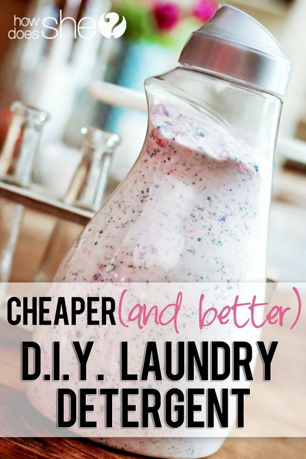 Homemade DIY Laundry Detergent.