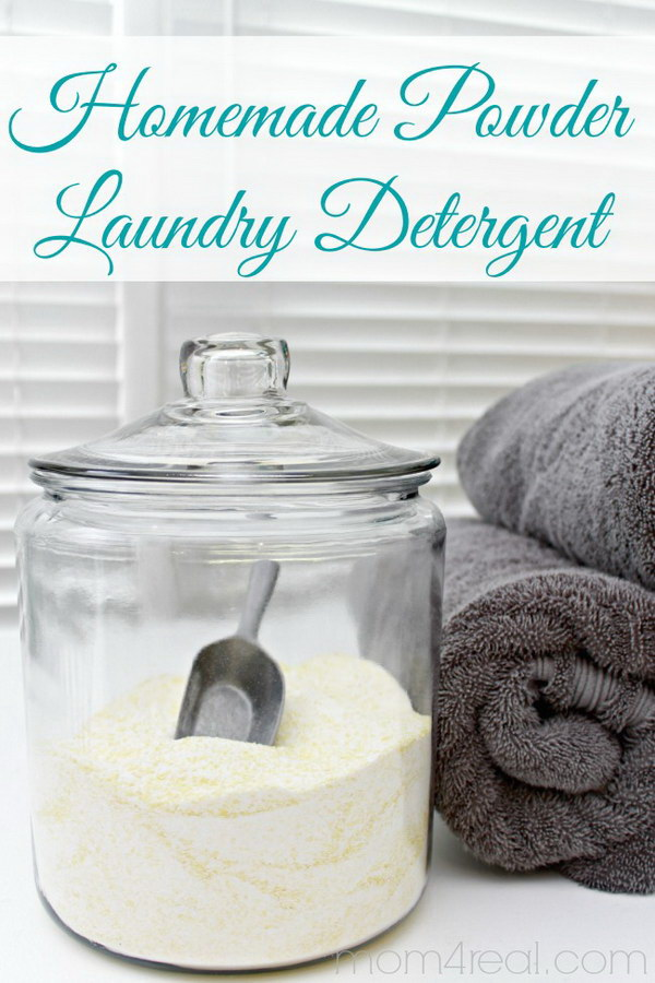 Homemade Laundry Powder Detergent.