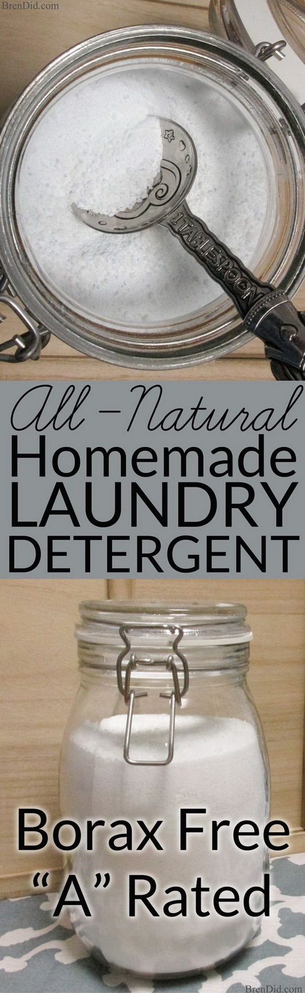 All Natural Homemade Laundry Detergent with No Borax.