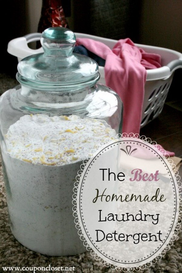 Homemade Laundry Detergent with 4 Different Blends of Ingredients.