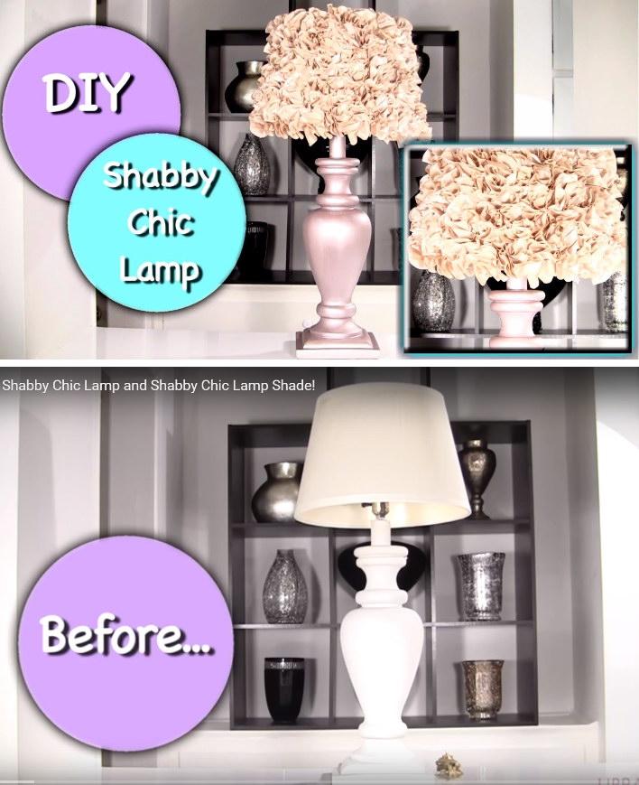 DIY Shabby Chic Lamp and Shabby Chic Lamp Shade