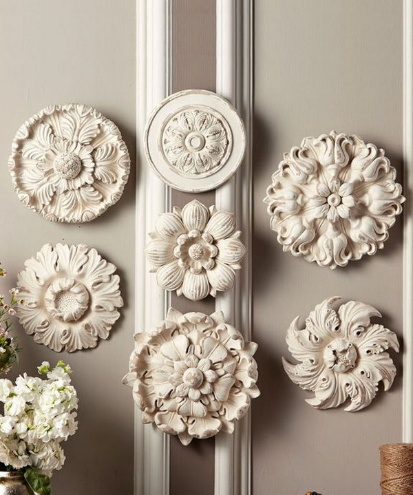 awesome shabby chic medallions wall art - Shabby Chic Wall Decor