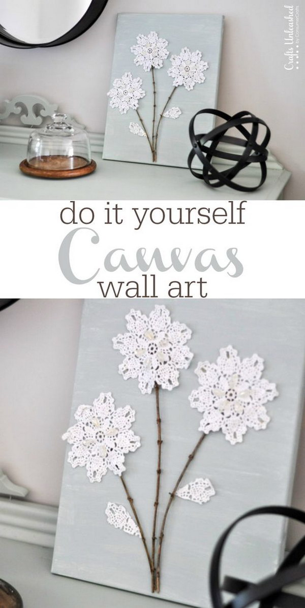 diy shabby chic canvas wall art - Shabby Chic Wall Decor
