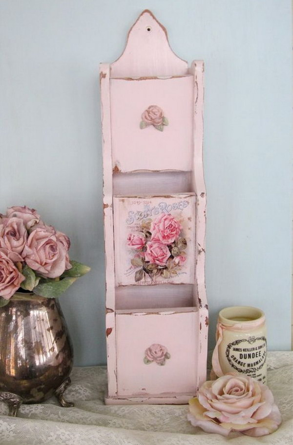 Shabby Chic Mail Holder