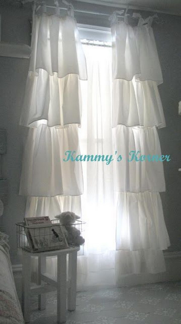 DIY Shabby Chic Curtains