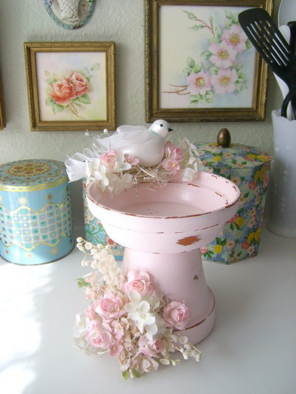 DIY Shabby Chic Birdbath Tutorial