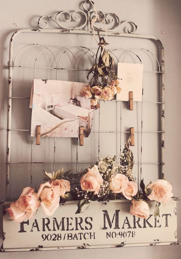 DIY Shabby Chic Gate & Sign Wall Decor
