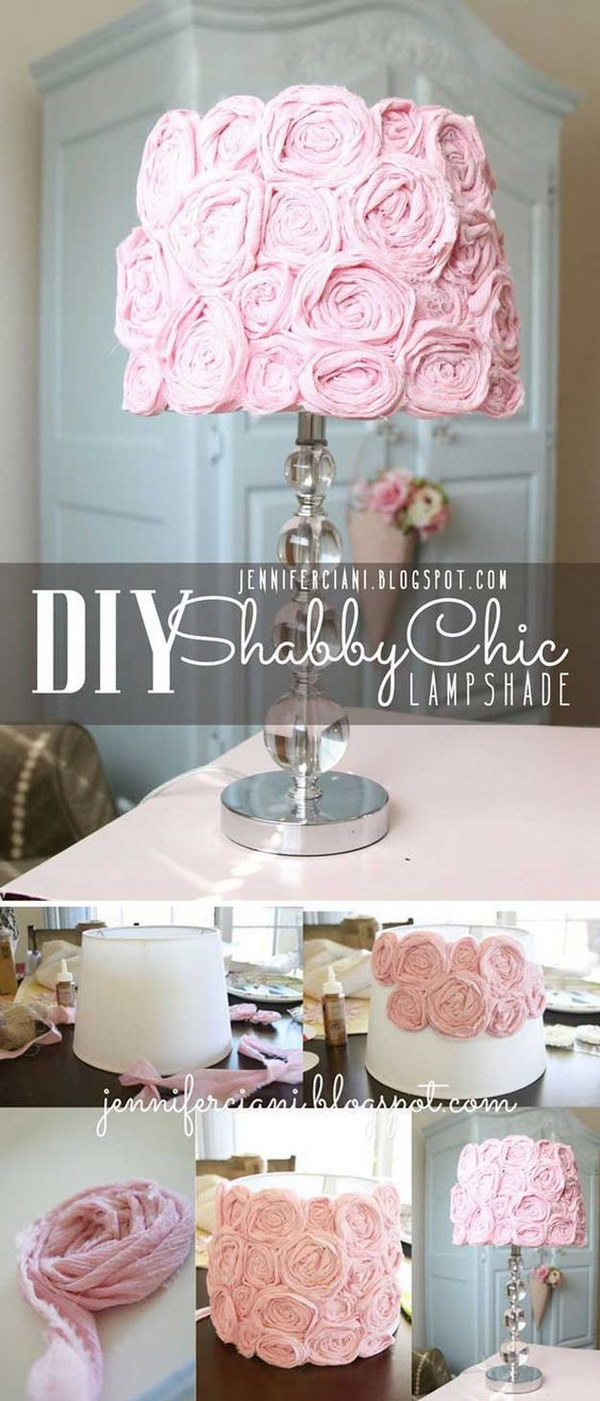 Diy shabby chic home decor - Diy Shabby Chic Lampshade