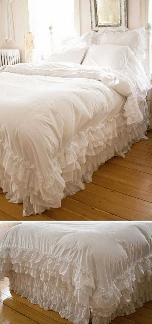 DIY Ruffled White Duvet