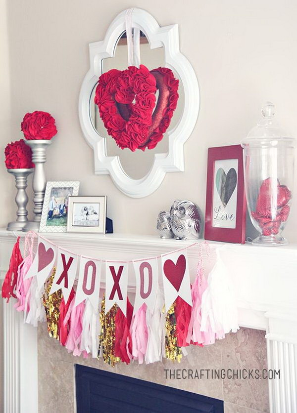 Valentine Mantle Inspiration.