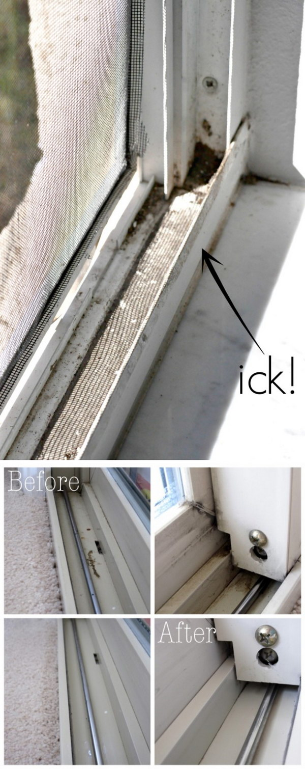 How to Clean Window Tracks with Little to No Scrubbing.
