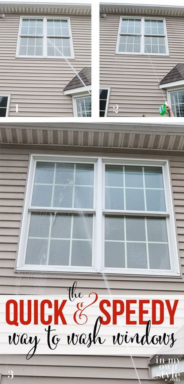 The quick and easy way to cleanthe inside and outside of your windows.