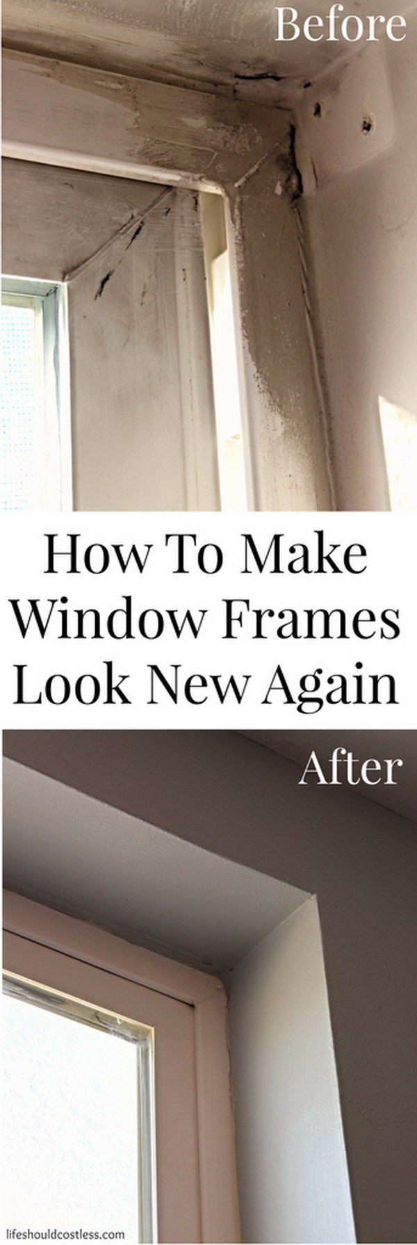 How To Make Window Frames Look New Again.