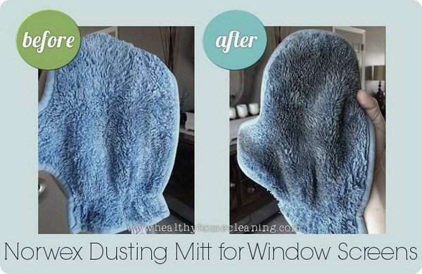 Norwex Dusting Mitt for Window Screen Cleaning.