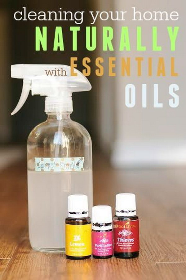 Homemade Window Cleaner with Essential Oils.