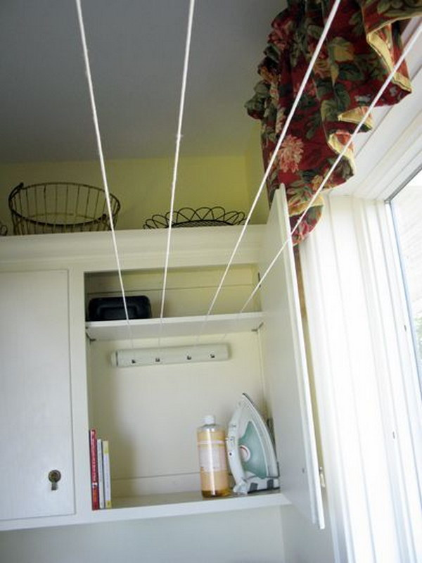 Indoor Drying Cabinet ~ Laundry storage and organization ideas