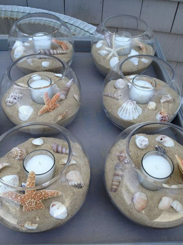 Beach Wedding Centerpiece.