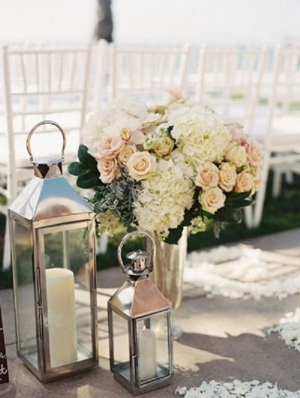 Lanterns Beach Wedding Decor.