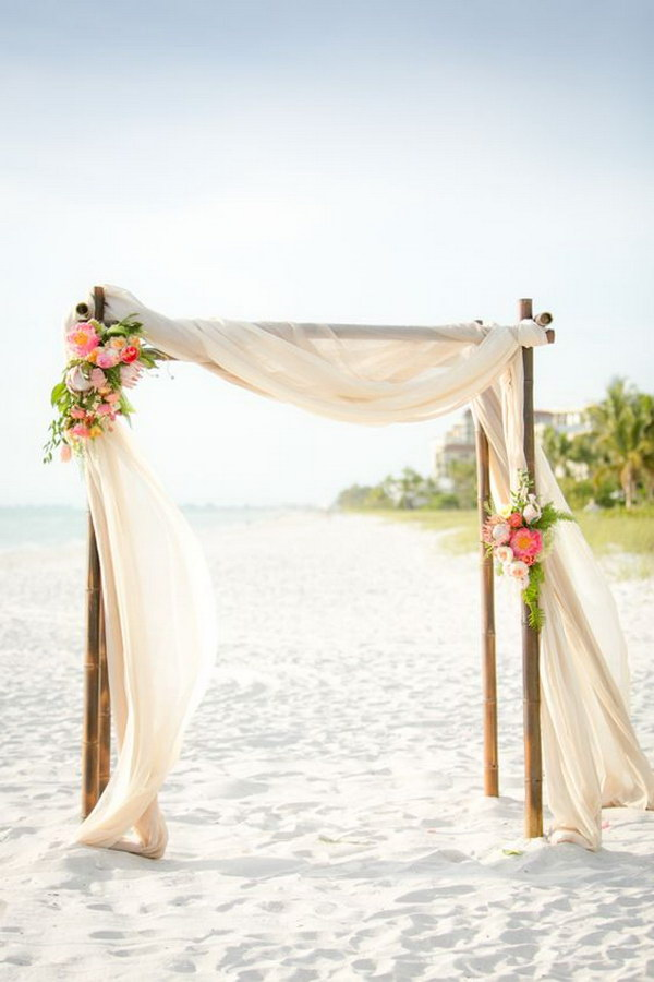 Beach Wedding Decoration Ideas Diy : Beach wedding arch decoration inspiration