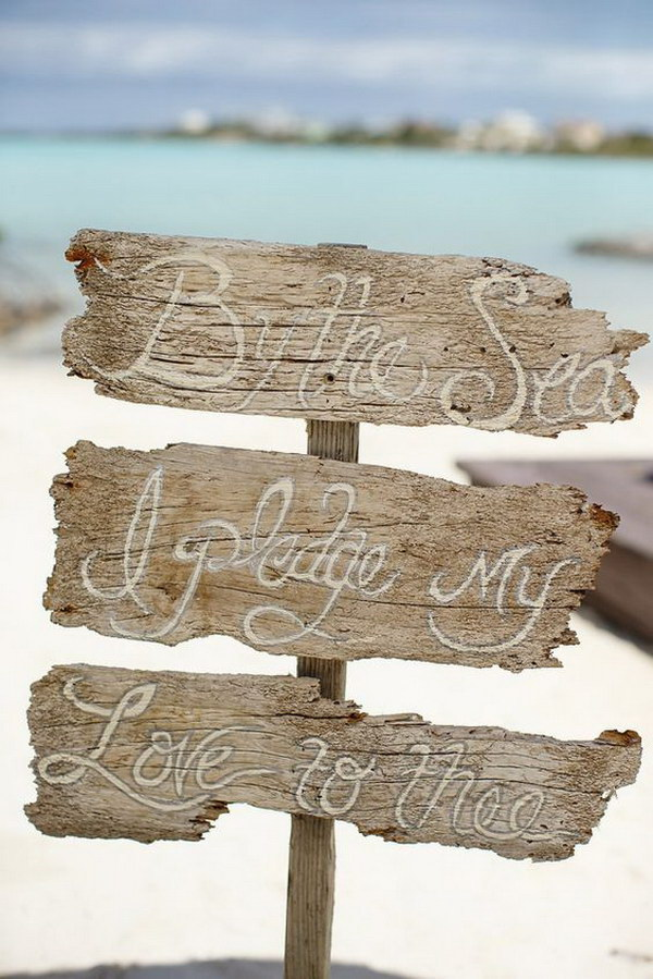 Driftwood Wedding Sign.