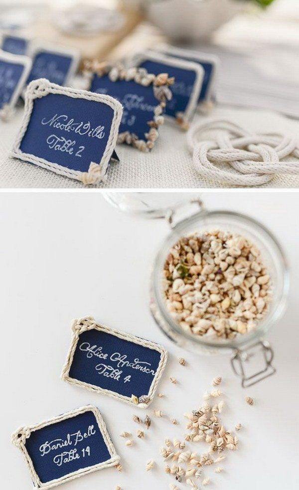 Elegant Nautical Escort Cards.