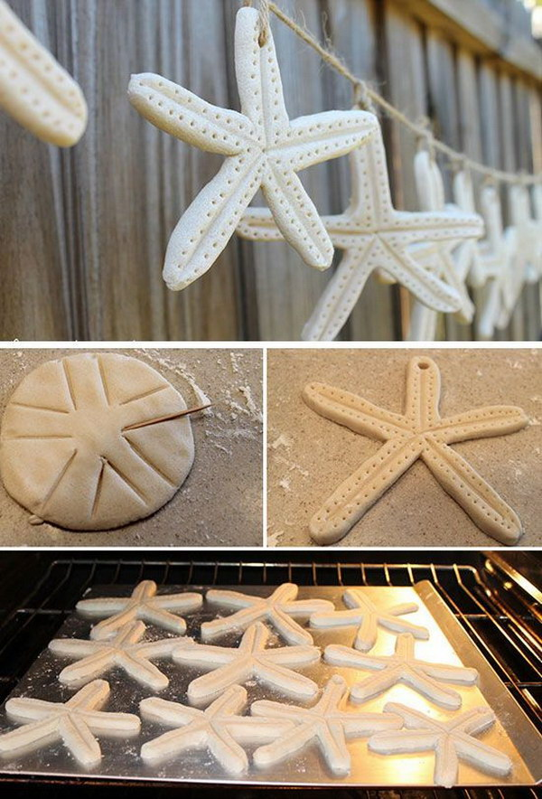 20 cool beach wedding ideas 2017 diy starfish salt dough garland junglespirit Gallery
