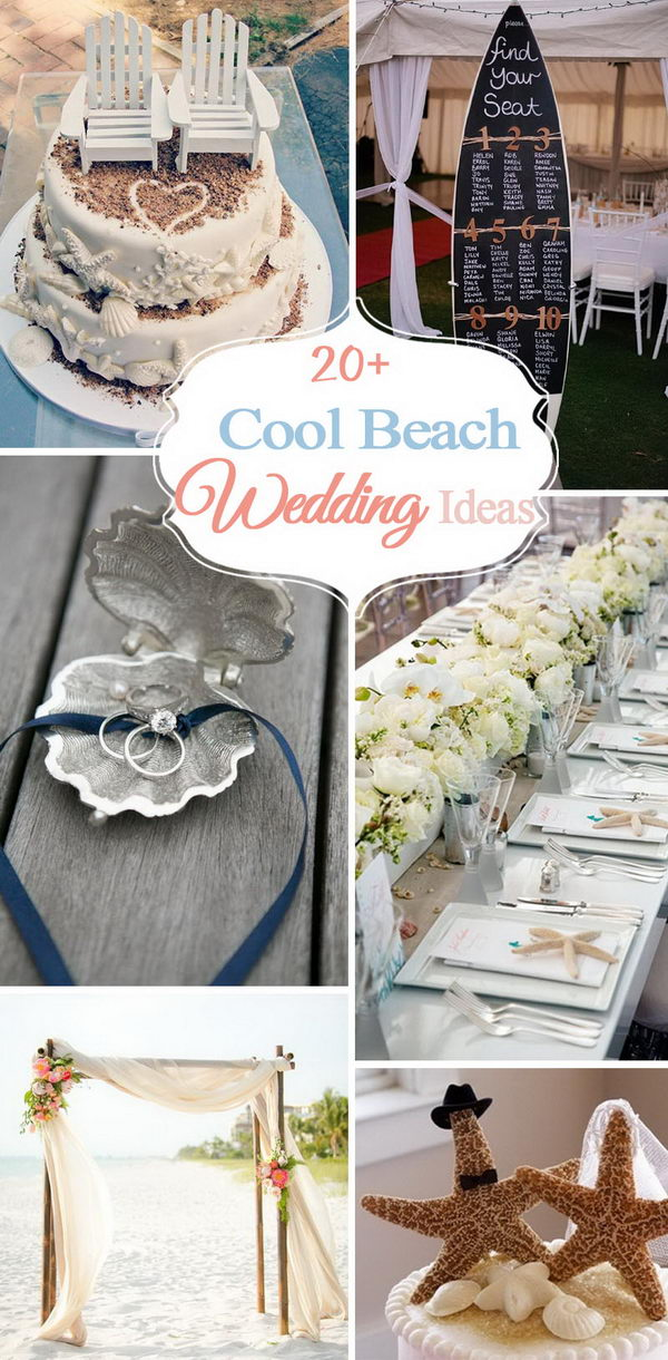 20 cool beach wedding ideas 2017 beach themed wedding ideas junglespirit Gallery