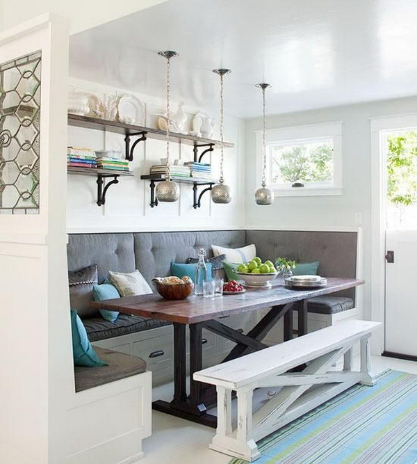 Awesome Breakfast Nook with Built in Bench.