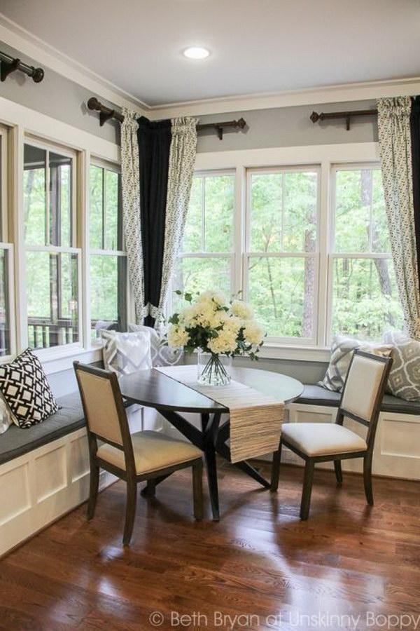Sunroom Addition Off Living Room Breakfast Nooks