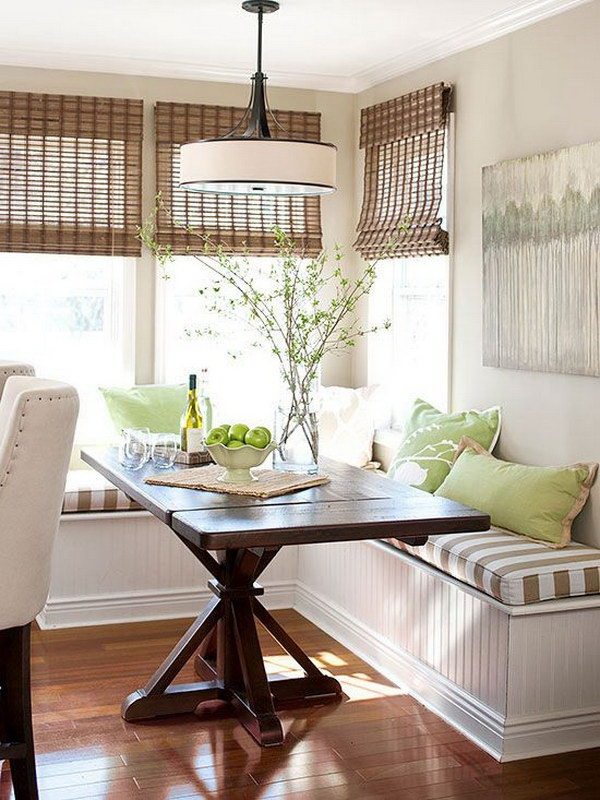 Farmhouse Breakfast Nook with Natural Beauty.