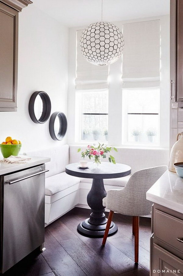 Bright and White Dining Space.