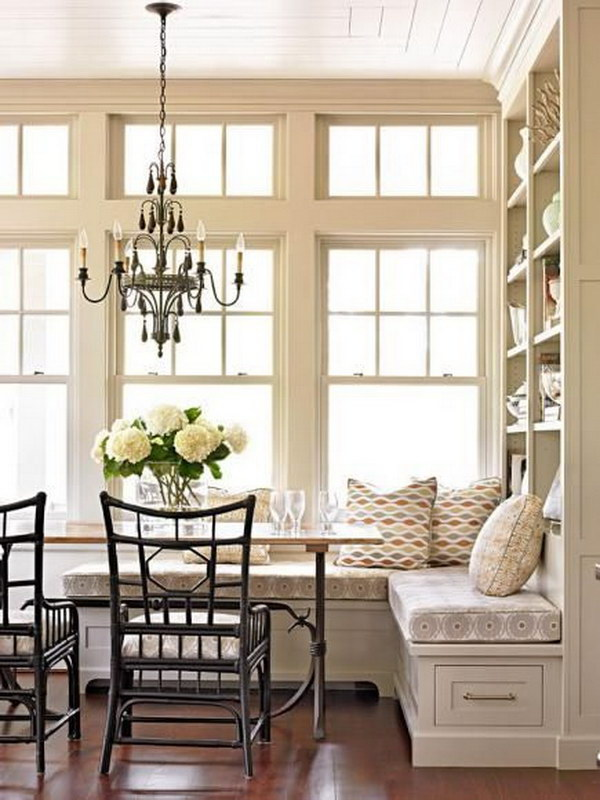 Multipurpose Breakfast Nook with the Built in Storage.
