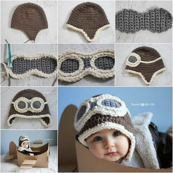 a1e48c5ae59 Crochet Aviator Hat Pattern. Crochet Aviator Hat Pattern. Every little baby  boy ...