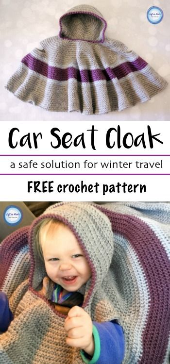 Make This Car Seat Cloak to Keep Your Toddlers Safe And Warm In Their Car Seat.