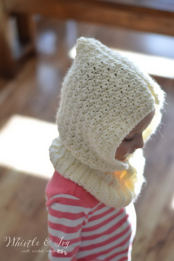 Free Crochet Pattern Toddler Hooded Cowl : 20+ Adorable Crochet Patterns for Babies