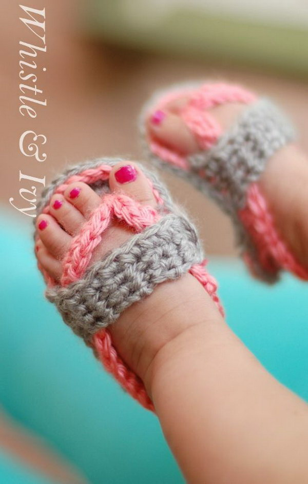 Crochet Baby Strap Flip Flop Sandals.