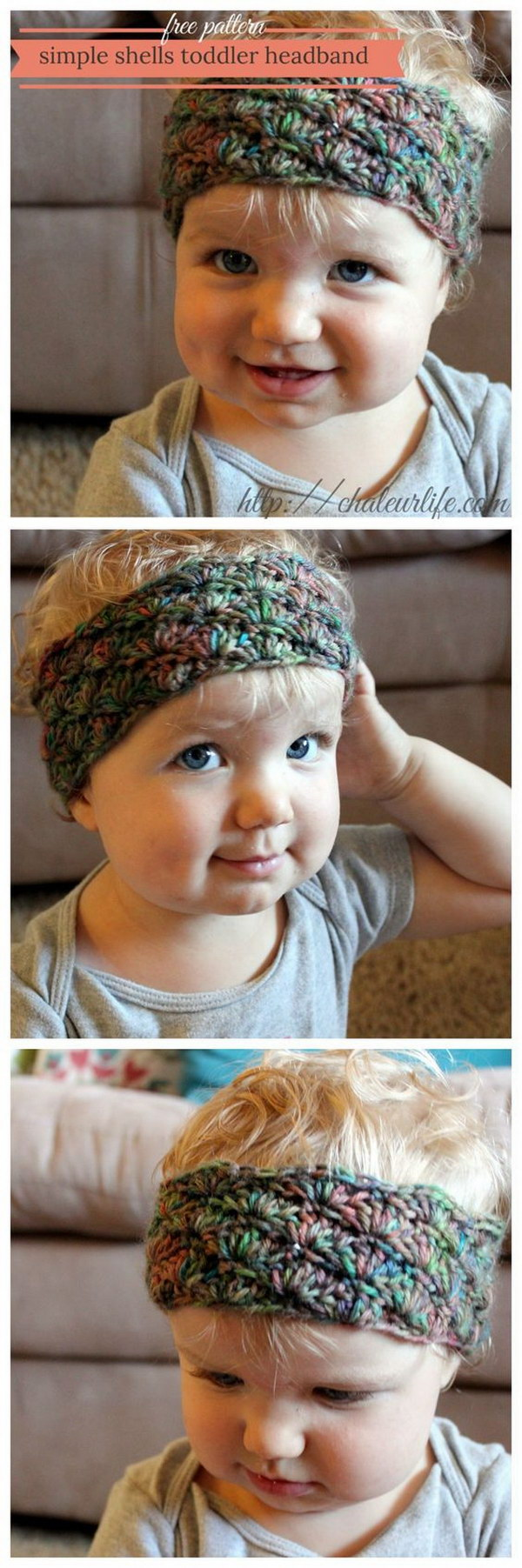 Simple Shells Toddler Headband.