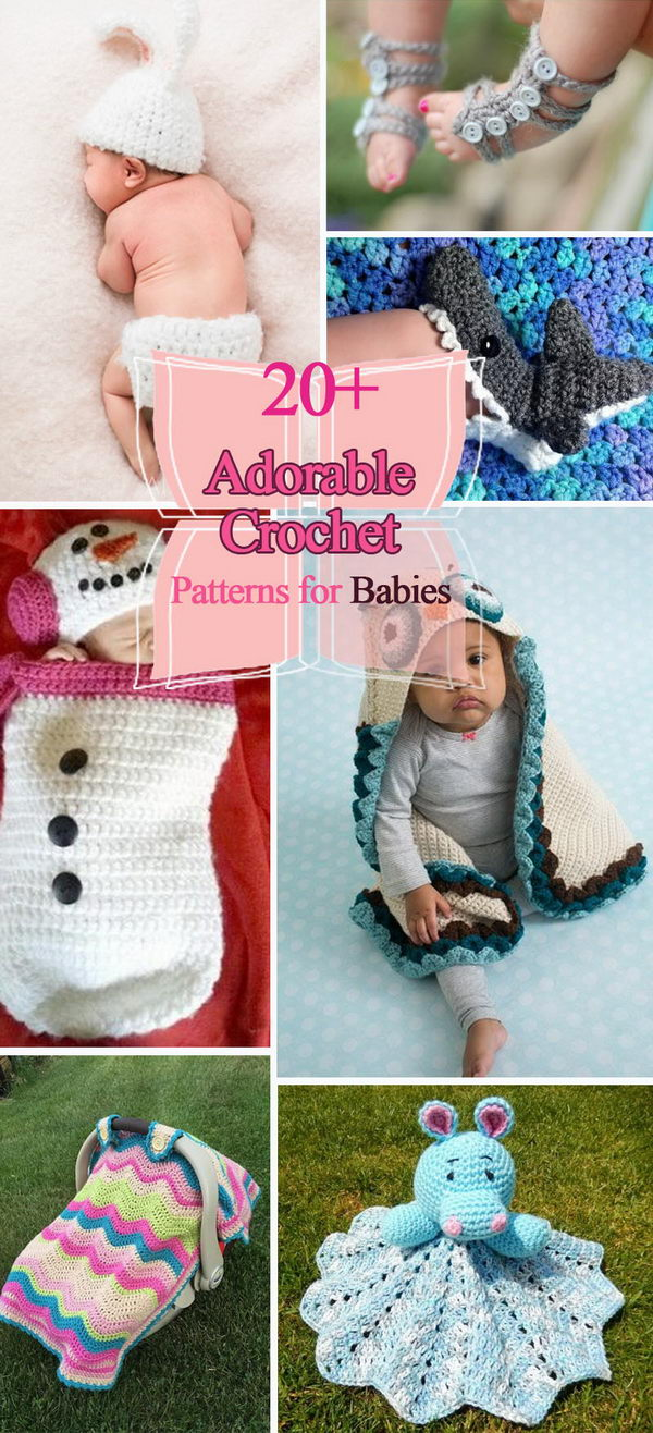 b213bf13fa460 20+ Adorable Crochet Patterns for Babies 2017