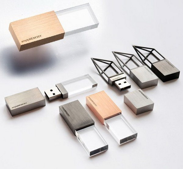 Hand Polished Stainless Steel Sculptural Memory Stick.