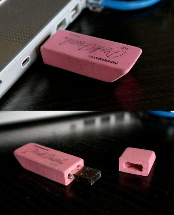 DIY Eraser USB Flash Drive.