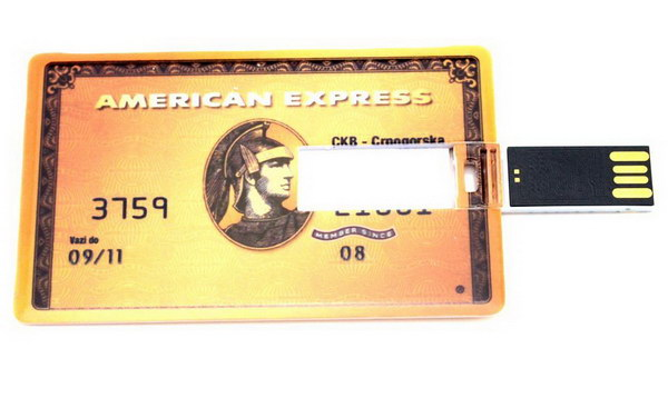 Credit Card Style USB Flash Drive.