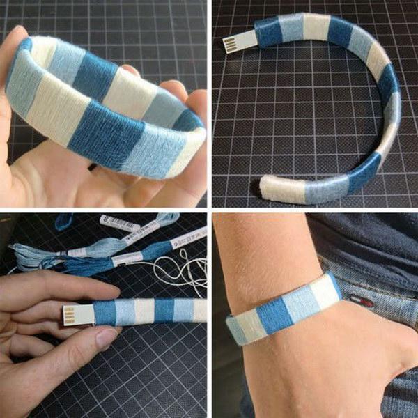 Make Your Own USB Flash Drive Bracelet.