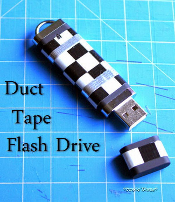 DIY Duct Tape Decorated Flash Drive.