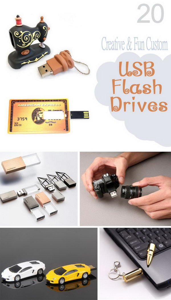 Creative and Fun Custom USB Flash Drives.