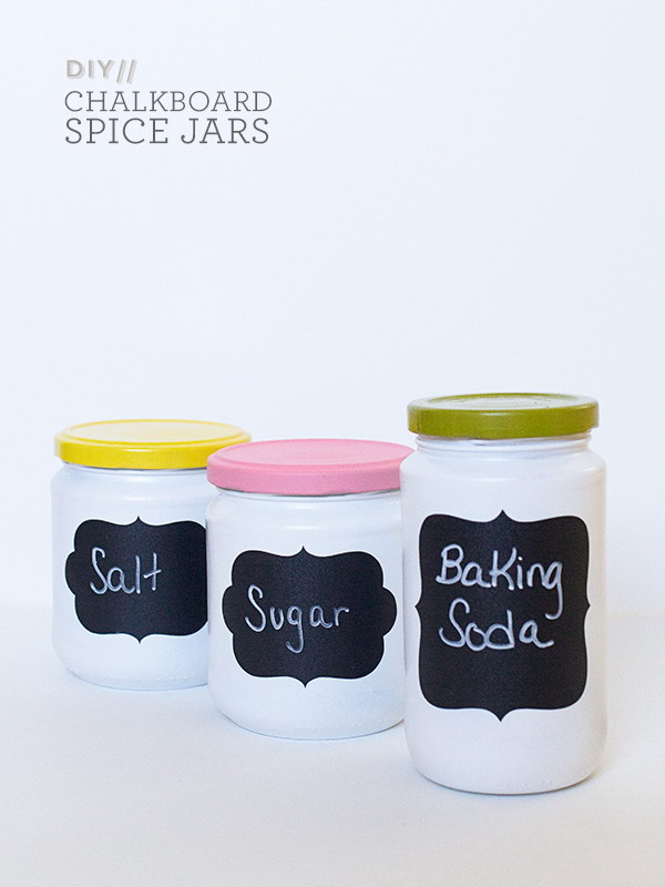 DIY Anthropologie Chalkboard Spice Jars.