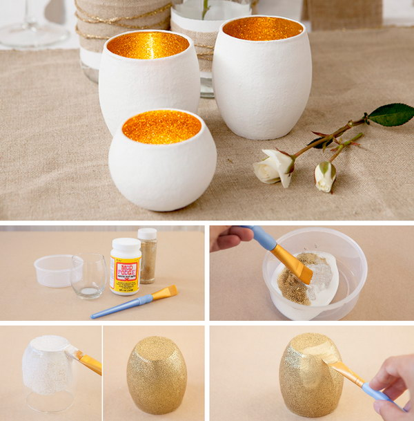 DIY Glass Votives.