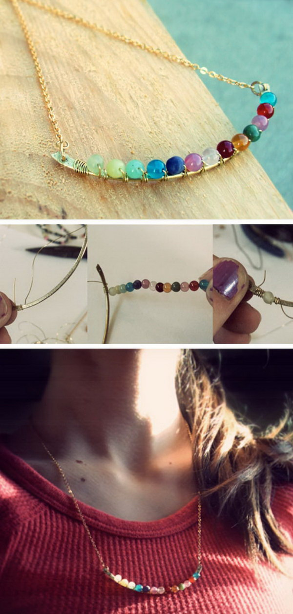 DIY Anthropologie 'Perched Harmonies' Necklace.