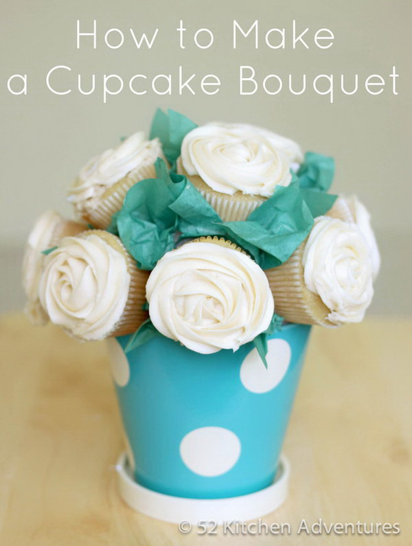 Homemade Cupcake Bouquet.