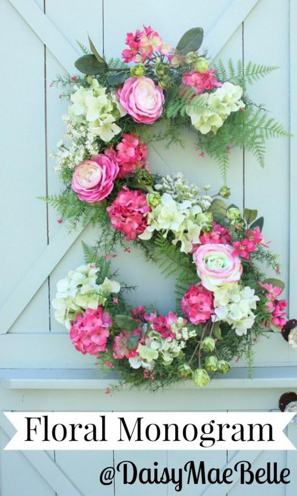 DIY Floral Monogram.