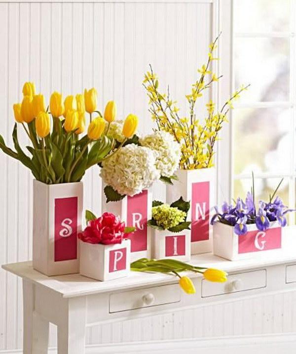 Seasonal Chalkboard Vases.